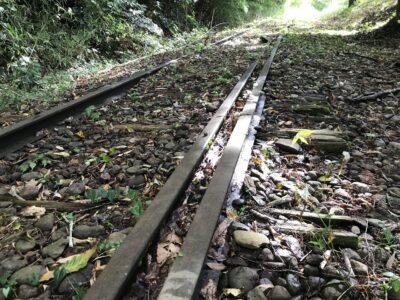 五十崎に残る内子線廃線跡を散策
